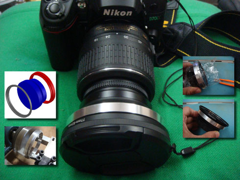 自製Nikon NH-WM75 82mm 轉接套筒-DIY Nikon NH-WM75 Wide Converter Lens Adaptor Ring Base 82mm