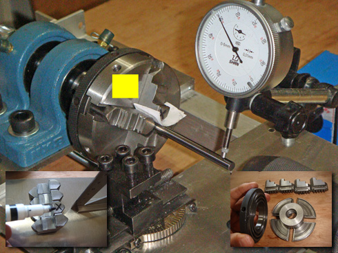 homemade mini metal woodworking lathe chuck centering a homemade mini Metalworking Woodworking dual collet chuck lathe correction eccentricity