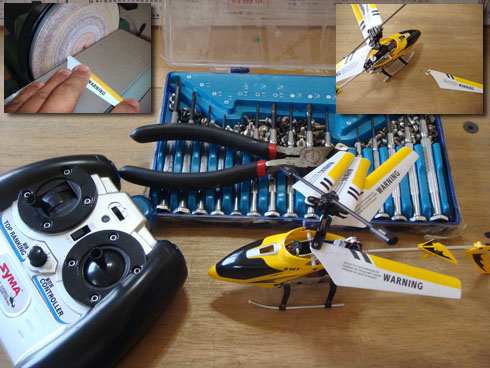 Repair RC Toy Gyro Chopper Helicopter Break wing
