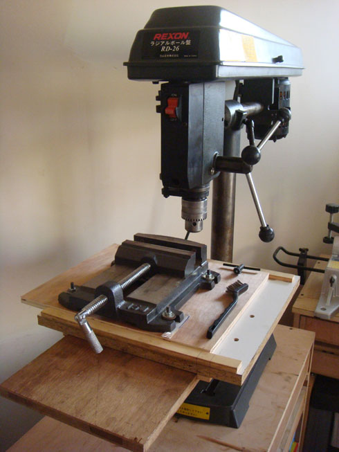 radial drill press XY table